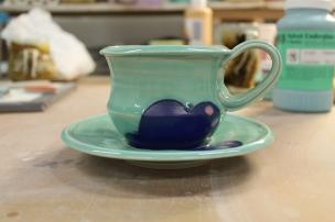Underglaze with new turquoise glaze