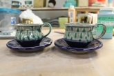 Tea Cups with new purple