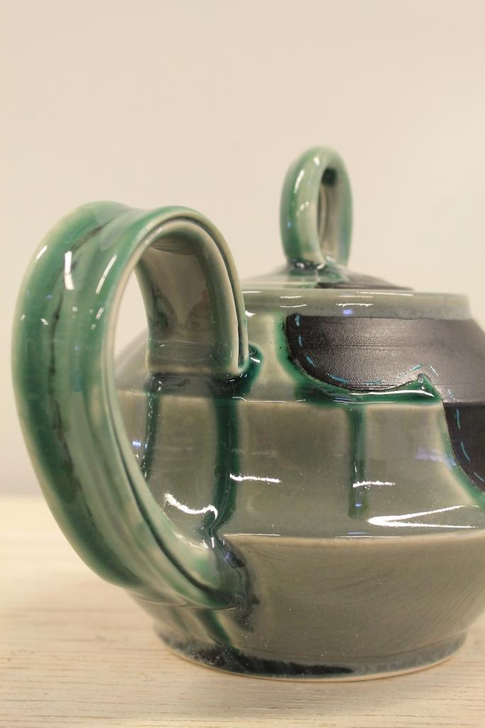 Grey Teapot - detail