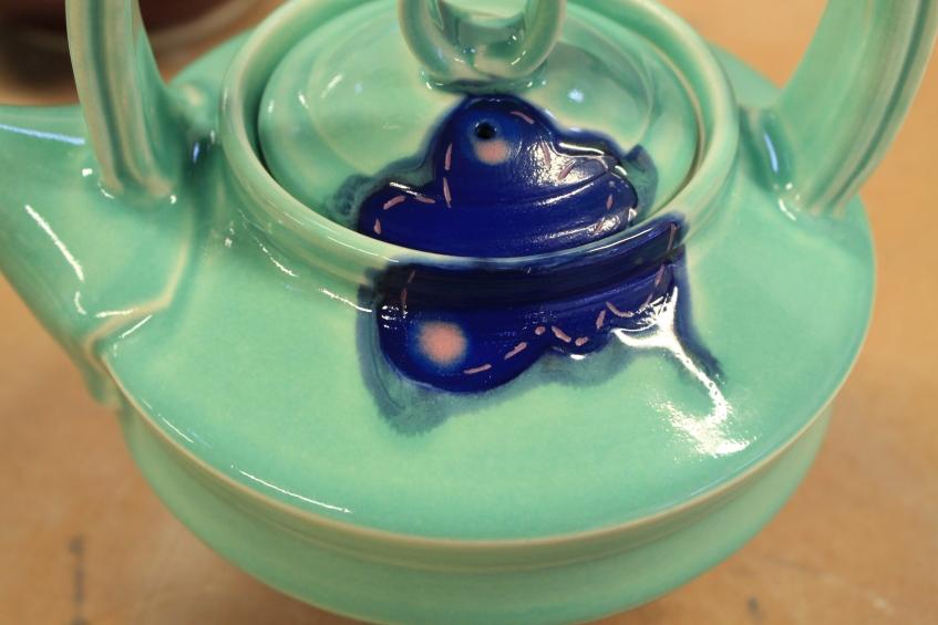 Turquoise Teapot - detail